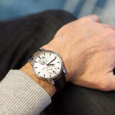 It's understated elegance conceals an astonishing movement: Eight-Day Royal Navy with silver guilloché dial.