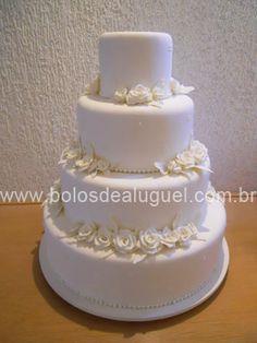 Bolos de Aluguel Cenograficos para Casamento - Ref #266 - 4 andares 50 cm