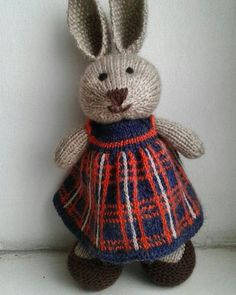 Knitting Projects, Crochet Projects, Knitting Ideas, Knit Or Crochet, Crochet Toys, Little Cotton Rabbits, Knitted Animals, Bunny Rabbits, Easter Bunny
