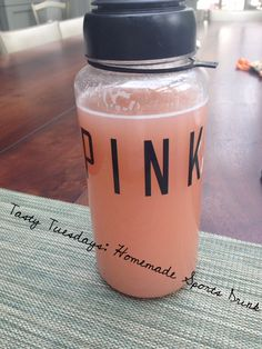 [New Post] homemade sports drink! No added sugars and made from fresh fruit! This is the perfect drink for before, during or after a workout!