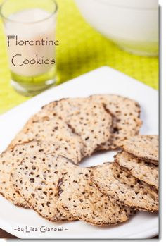 Florentine cookies are dainty crispy and sticky. They are similar to amaretto lace cookies. Both are part of my Italian cookie recipes.See this and over 235 Italian Dessert Recipes with photos.