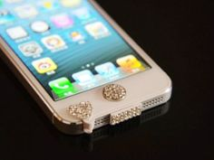 Amazon.com: White Bling Luxary Crystal Diamond Anti Dust Dock Charger Port Plug+Ear Plug+Home Button For iPhone 5 5G: Cell Phones & Accessories