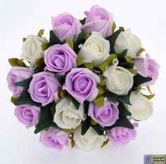 Lilac & Ivory Rose Bridesmaids Posy £28.50 @Jenny Cox