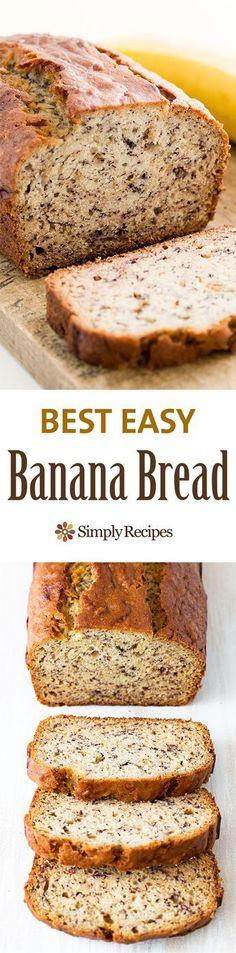 Bread Easiest banana bread ever! No need for a mixer! Delicious and easy, classic banana bread recipe. Most popular recipe on Easiest banana bread ever! No need for a mixer! Delicious and easy, classic banana bread recipe. Most popular recipe on Easy Banana Bread, Banana Bread Recipes, Banana Bread Baking Powder, Banana Bread With 2 Bananas, No Butter Banana Bread, Ripe Banana Recipes Healthy, Homemade Banana Bread, Quick Bread, Most Popular Recipes