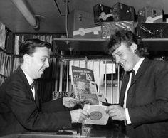 Joe Cocker in a London Record shop