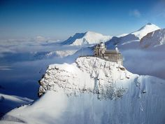 """""""The Top of Europe"""". The Jungfraujoch in Switzerland. The highest train station in the world."""
