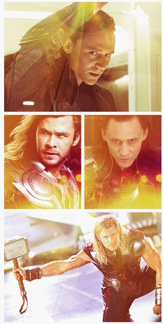 Thor and Loki. I love the movie Thor! Such great characters.