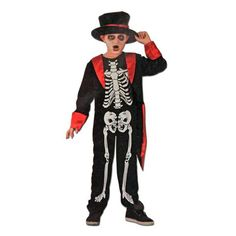 This children's skeleton Halloween costume will be a hit at your next dress up party. Includes: Jacket Hat Jumpsuit Sizing Ages: for Height: Chest: Waist: Ages for Height Chest: Waist: Ages for Height Chest: Waist: Skeleton Halloween Costume, Childrens Fancy Dress, Fancy Dress Outfits, Hipster, Punk, Collection, Dresses, Fashion, Vestidos