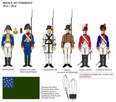 American War of 1812 Uniforms; British American, American War, Army & Navy, Us Army, Vermont, American Uniform, Independence War, British Uniforms, War Of 1812