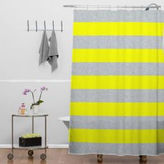 Red White And Blue Striped Shower Curtain
