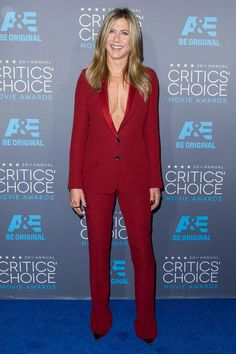 Try a sexy suit like Jennifer Aniston for date night sizzle