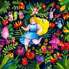 The Alice's Adventures in Wonderland Project by Aitch , via Behance