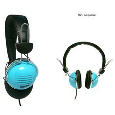 R2 Headphones Turquoise, $18, now featured on Fab.