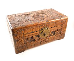 Crate Tea Imports Chest Loyal Vintage Antiqued Wooden Box