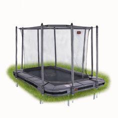 Iso (380x256cm) maahan upotettava trampoliini Avyna Pro-Line