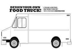 Blank Food Truck Design Template Truck New Ideas With Blank Template - Food truck design template