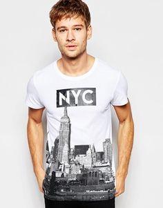Esprit Crew Neck T-Shirt with NYC Print