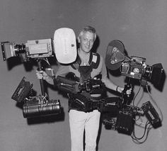 Garrett Brown discusses how he invented the Steadicam, the art of operating (and why there are too few female operators), his secret to disruptive innovation, and more. Camera Rig, Camera Gear, Movie Projector, Movie Camera, Easy Rider, The Shining, Video Camera, Vintage Movies, Film Movie