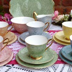 TEA SET ROYAL ALBERT GOSSAMER