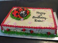 ladybug sheet cake ideas | Ladybug Sheet Cake Lady bug sheet cake LOVE LOVE LOVE
