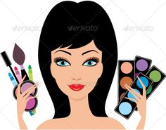 Young beautiful woman with decorative cosmetics