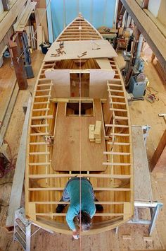 Wood Boat Building Plans-Duck Boat Plans Stitch And Glue Wooden Boat Kits, Wood Boat Plans, Wooden Boat Building, Boat Building Plans, Wooden Sailboat, Plywood Boat, Wood Boats, Build Your Own Boat, Best Boats