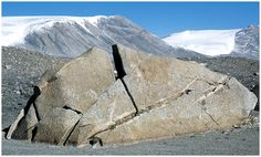 Mechanical weathering (physical) by water: rock is broken into fragments without involving chemical change; water can go into tiny cracks in rocks; when it freezes and expands, the force can enlarge the cracks and help split the rock