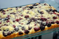 Mennonite Girls Can Cook: Platz (light cake w/fruit) Blueberry Recipes, Fruit Recipes, Cake Recipes, Dessert Recipes, Dessert Bars, Amish Recipes, Dutch Recipes, Baking Recipes, German Recipes