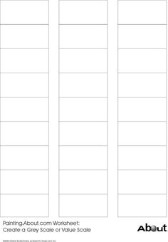 FREE Blank Color Pencil Chart coloring Pinterest