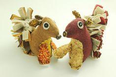 Squirrel Stuffed Animals - Handmade Toy -Woodland Nursery - Woodland Critters - Felt stuff animals by BessiesCreations on Etsy