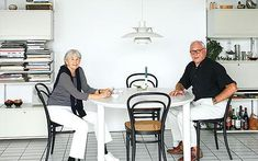 Dieter and Ingeborg at their 720 Round Oval dining-table