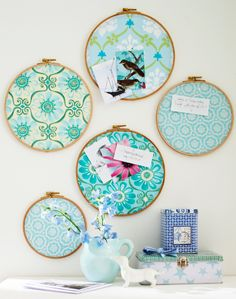 Use clever ideas for scraps - Upcycled Home Decor Creative Crafts, Diy And Crafts, Arts And Crafts, Upcycled Home Decor, Diy Home Decor, Embroidery Hoop Crafts, Diy Organisation, Creation Deco, Diy Décoration