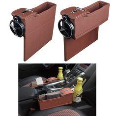 Zone Tech Car Seat Gap Filler Pocket Organizer Wallet and Many More Classic Black Premium Quality Coin Side Pocket Filler Gap Organizer for Phones