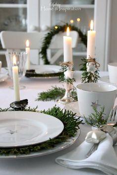 Christmas Greenery, Elegant Christmas, Rustic Christmas, White Christmas, Christmas Time, Christmas Foods, Scandinavian Christmas Decorations, Christmas Tree Decorations, Table Decorations