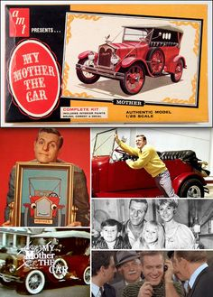 1966 AMT Model Car Kit: My Mother the Car (1965-66, NBC) starring Jerry Van Dyke as 'David Crabtree', who, while shopping at a used car lot purchases a dilapidated 1928 Porter touring car. Crabtree heard the car call his name in a woman's voice, which later turned out to be that of his deceased mother, Gladys (voiced by Ann Sothern).