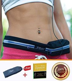 Running Belt Treadmill Waistbelt Pouch for Men  Women for Storing iPhone Keys Wallets ID Cards Secure during Workouts Hiking Marathon Gym etc  Made of Water Resistant Elastic Stretch Material * Want additional info? Click on the image.