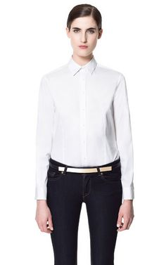BASIC COTTON SHIRT:Zara