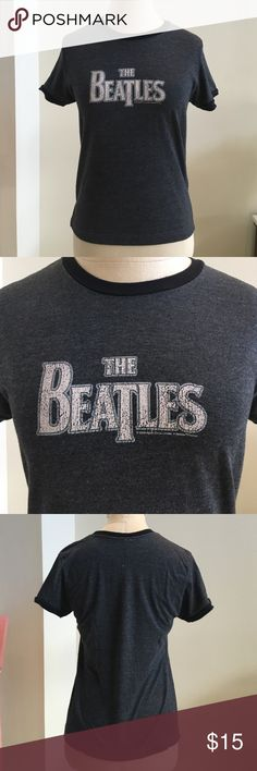 Urban Outfitters Beatles Ringer Tee Size Youth Lg Urban Outfitters ringer t shirt. Gray with black rings. THE BEATLES. Labeled size L, but fits more like a youth large/adult small. Urban Outfitters Tops Tees - Short Sleeve