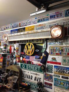 1965 C10 grill Barn Garage, Two Car Garage, Garage Art, Garage Ideas, Room Furniture Design, Furniture Decor, License Plate Decor, Harley Davidson Posters, Old Gas Stations