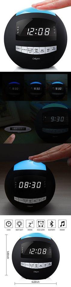 Digital Clocks and Clock Radios: Digital Alarm Clock Radio Wireless Bluetooth Speaker Dual Usb Charging Led Light -> BUY IT NOW ONLY: $57.99 on eBay!