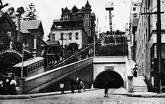 Angel's Flight and Bunker Hill, Downtown LA, early 1900s