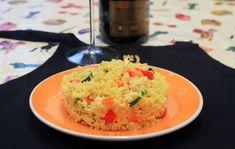 Cous cous integrale con curry, verdure e pollo - Chiara Maci