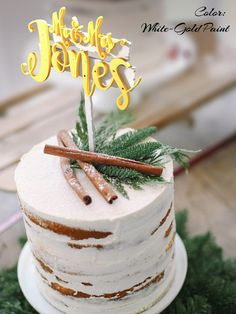 Personalized Wedding Cake Topper with Custom Surname. FN263D. Mr and Mrs Rustic Surname Cake Topper. Personalized Surname Wood Cake Topper.  Wedding Cake Toppers made from high quality plywood. -----------SIZE---------- 5 - 8 inches ( 12-20 cm ) You can choose the size of your