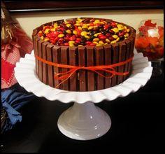 M and Kit Kat Cake