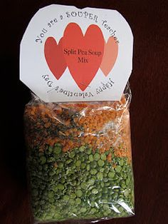 Your a SOUPER teacher fun vday gift like cookies in a jar but SOUP