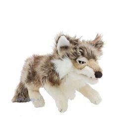 Folkmanis handpop grijze wolf