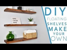 5 Blindsiding Useful Tips: Floating Shelves Closet Simple floating shelves bookcase nursery.Floating Shelf Desk Corner how to decorate floating shelves bedrooms.How To Decorate Floating Shelves Lack Shelf. Shelves, Diy Hanging, Love Shelf, Floating, Floating Shelves Diy, How To Make Floating Shelves, Wood Diy, Diy Wall, Floating Shelves Living Room