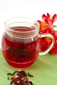 Hibiscus Tea has so many health benefits from lowering cholesterol, depression, weight control and many more. Check it out!!