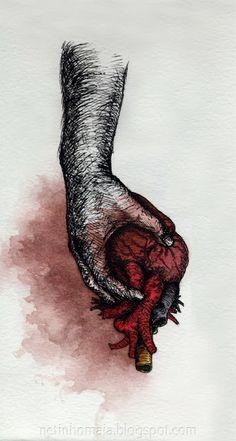 Heart in hand.