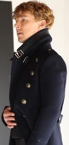 Benedict wearing a great coat
